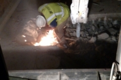 Removing existing rebar